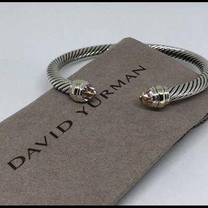 David Yurman 5mm Morganite & Gold Bracelet